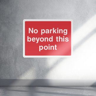 No parking beyond this point parking sign