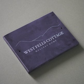 Slate Printed Logo Sign - Honed