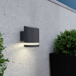 Truro Solar Wall Light - Anthracite Grey