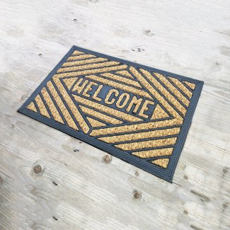 Welcome Coir and Rubber Door Mat