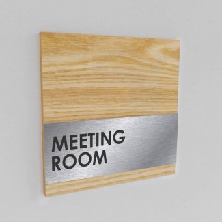 Aluminium with Wood Sign