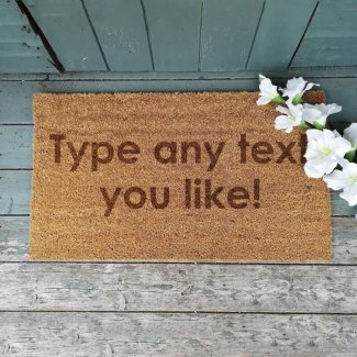 Personalised Door Mat With Any Text