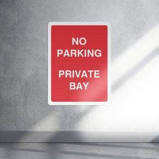 No parking private bay sign