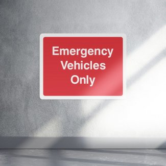 Emergency vehicles only safety sign