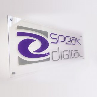 Digitally Printed Logo on Clear Acrylic