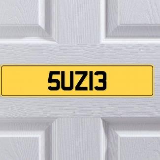 Bedroom License Plate