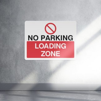 No parking loading zone parking sign