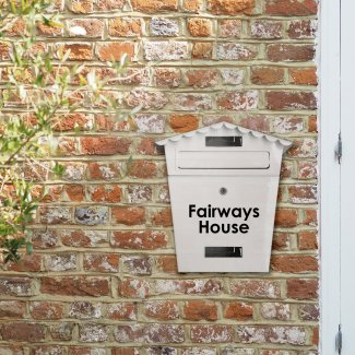 Personalised White Letterbox