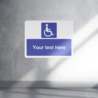 Personalised DDA disabled parking sign