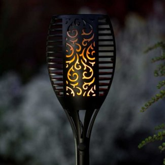 Solar Torch Light With Flickering Flame
