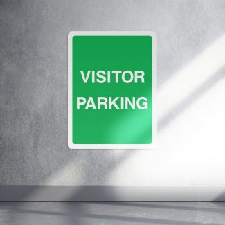 Visitor parking information sign - portrait
