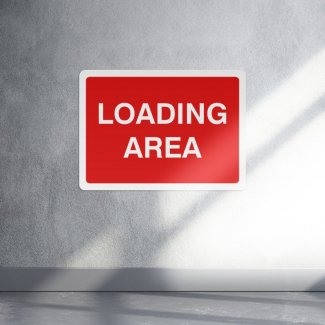 Loading area parking sign