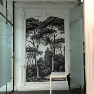 Printed Wallpaper Mural Paste Up