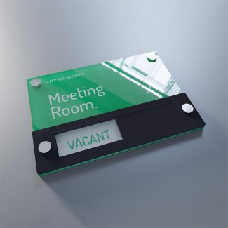 Sliding Meeting Sign With Acrylic