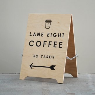 Wooden A-Board Sign Small