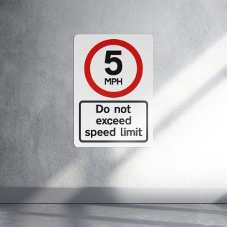 5 MPH Speed Limit Sign