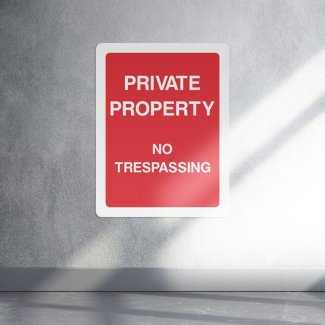 Private property no trespassing access sign