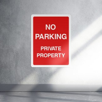 No parking private property sign - portrait