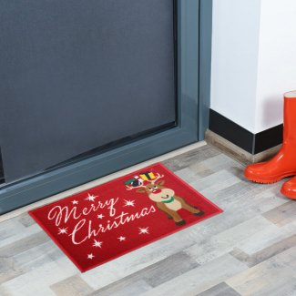 Reindeer Merry Christmas Doormat